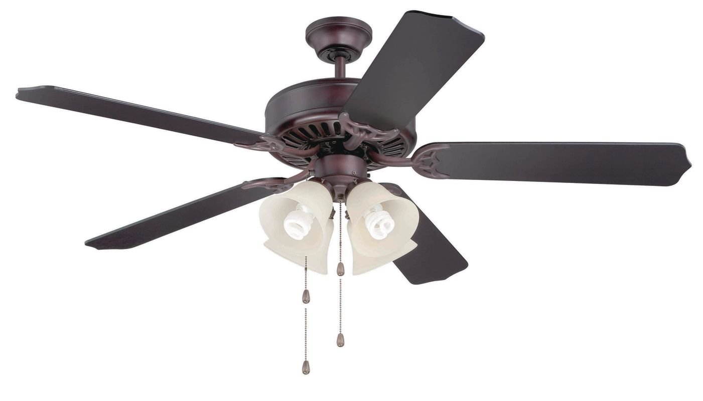 "Craftmade C204 Pro Builder 52"" 5 Blade Indoor Ceiling Fan - and Light"