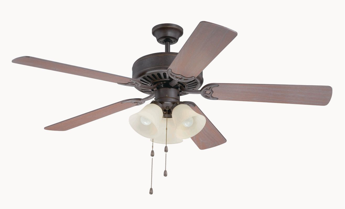 "Craftmade C206 Pro Builder 52"" 5 Blade Indoor Ceiling Fan - and Light"