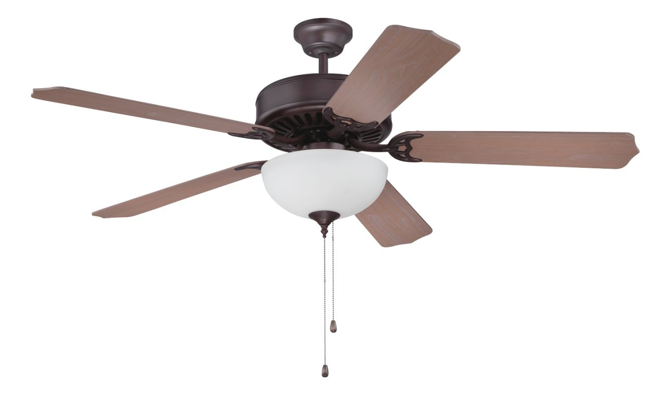"Craftmade C207 Pro Builder 52"" 5 Blade Indoor Ceiling Fan - and Light"