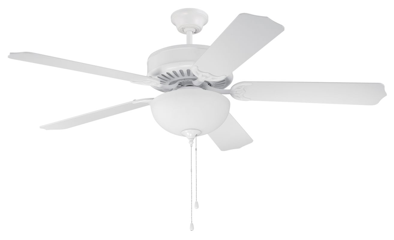 """Craftmade C207 Pro Builder 52"""" 5 Blade Indoor Ceiling Fan - and Light"""