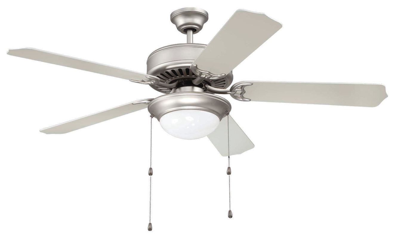 "Craftmade C209 Pro Builder 52"" 5 Blade Indoor Ceiling Fan - and Light"