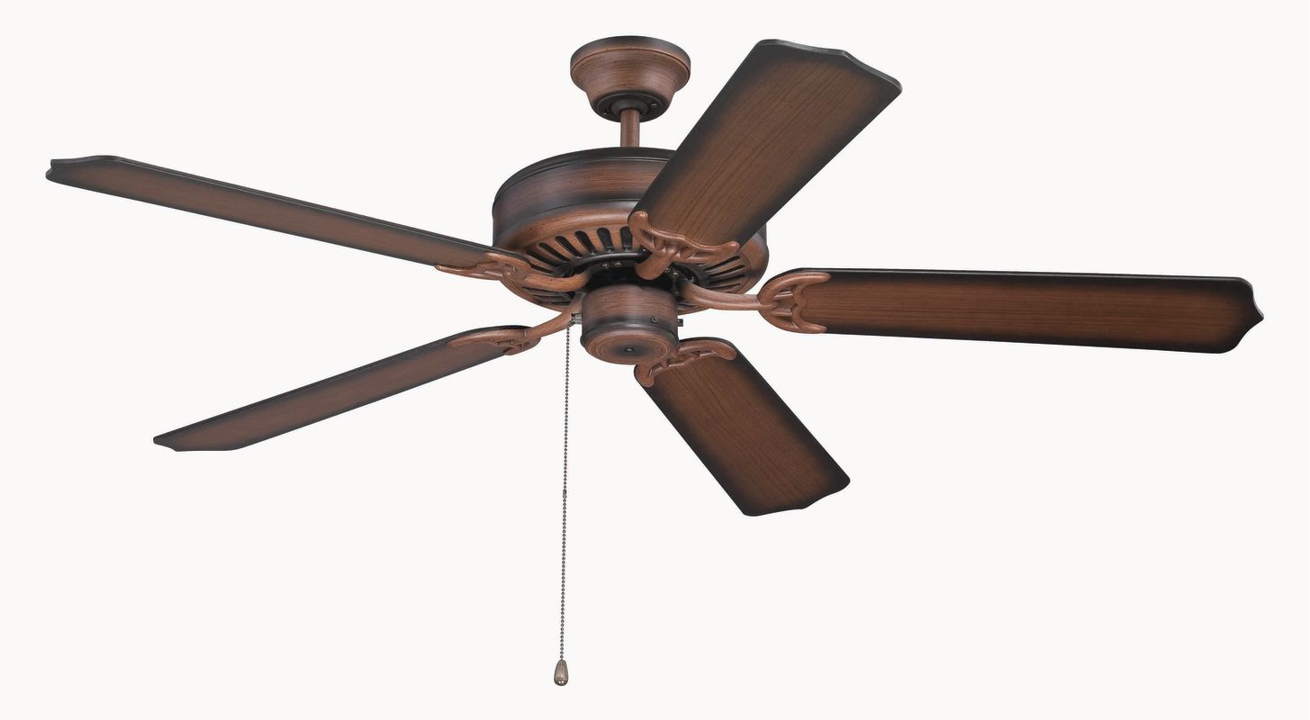 "Craftmade C52 Pro Builder 52"" 5 Blade Indoor Ceiling Fan Biscay Walnut"