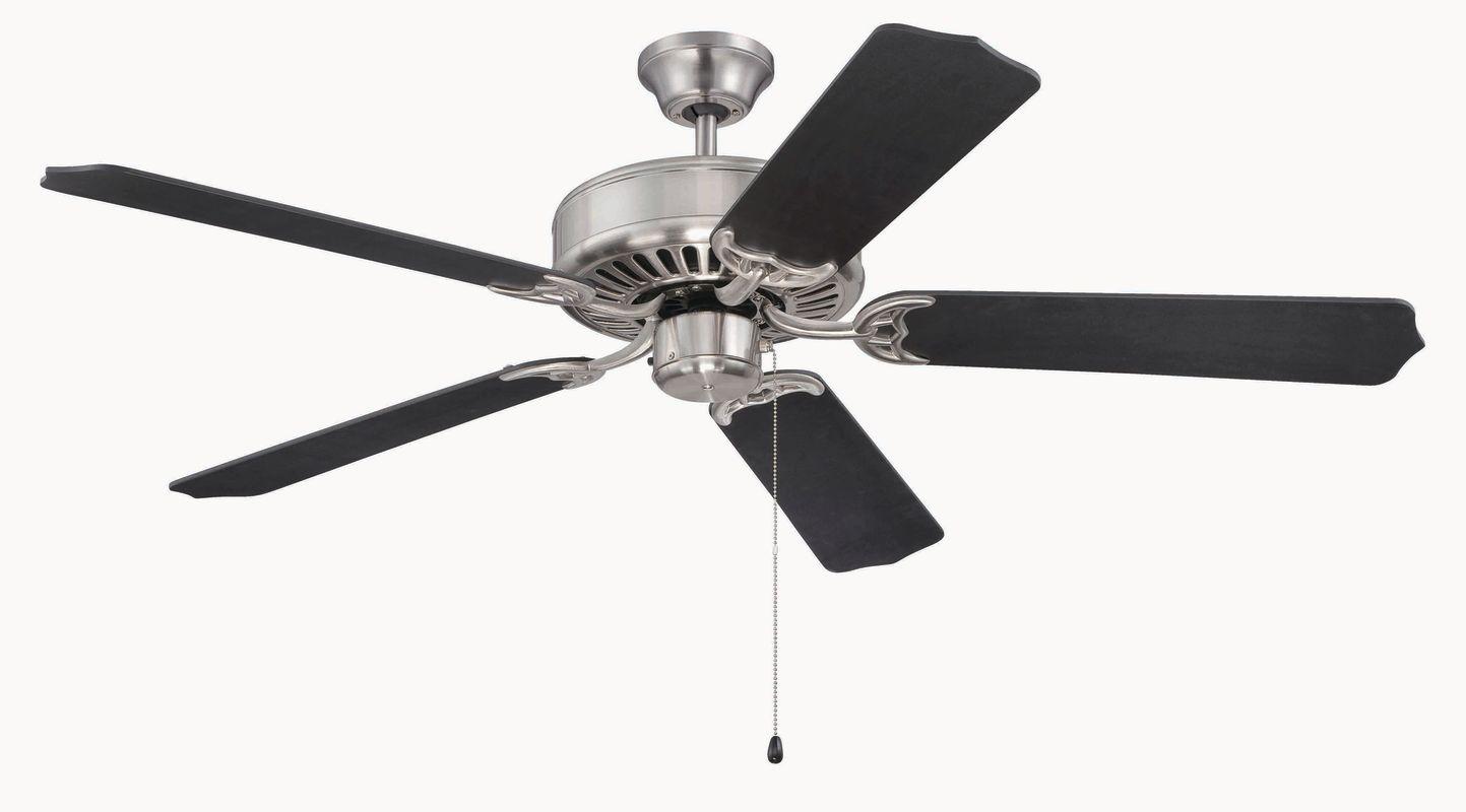"Craftmade C52 Pro Builder 52"" 5 Blade Indoor Ceiling Fan Brushed"
