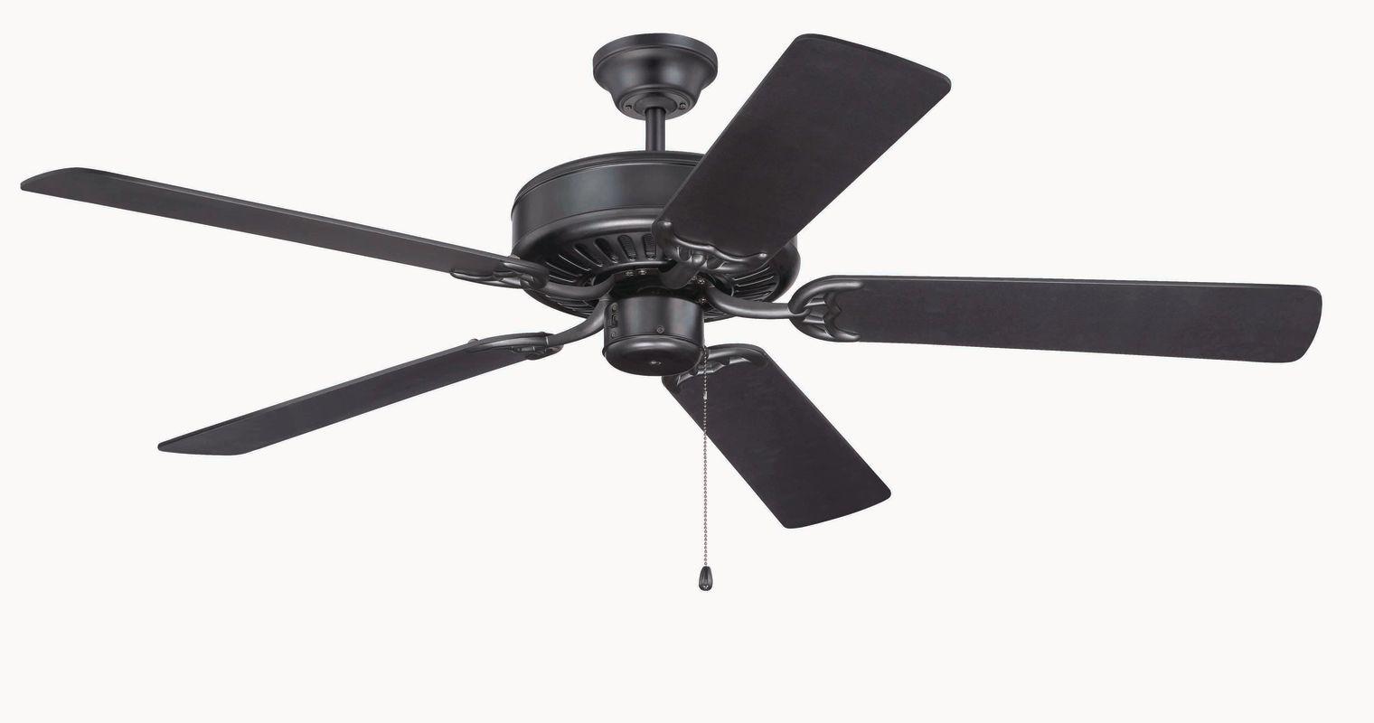 "Craftmade C52 Pro Builder 52"" 5 Blade Indoor Ceiling Fan Flat Black Sale $76.50 ITEM: bci687345 ID#:C52FB UPC: 647881068363 :"