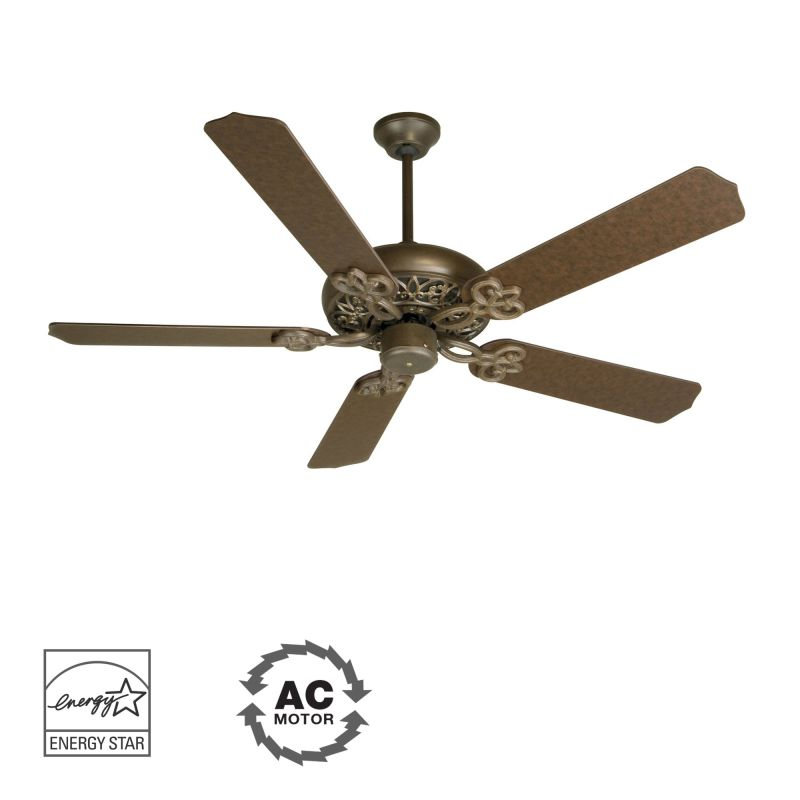 "Craftmade Cecilia 52"" 5 Blade Energy Star Indoor Ceiling Fan Aged"