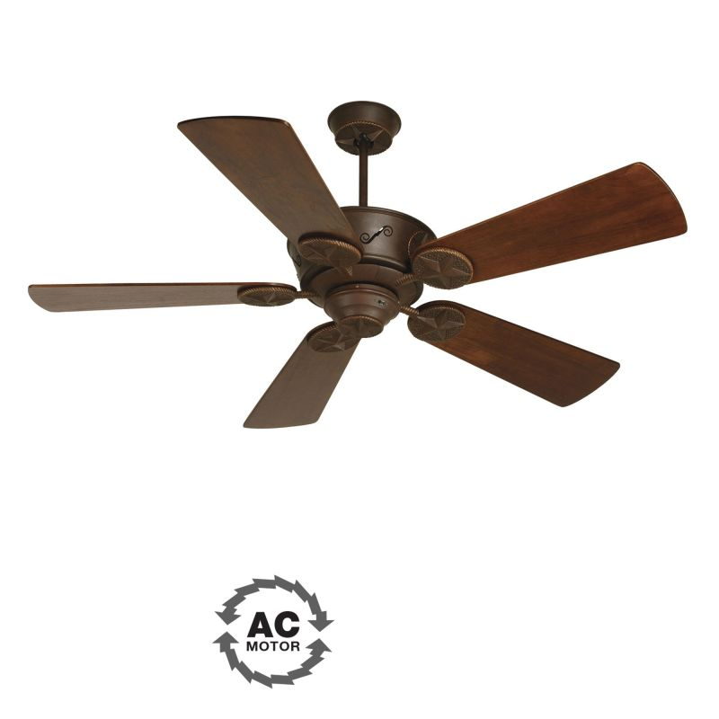 "Craftmade Chaparral 52"" 5 Blade Outdoor Ceiling Fan Aged Bronze Fans"