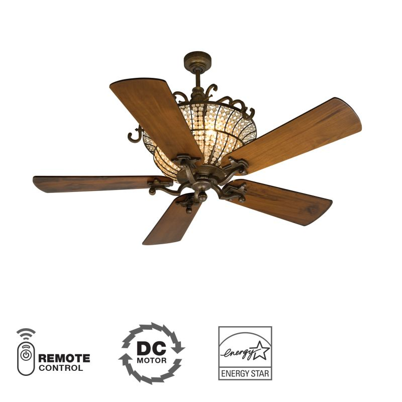 "Craftmade Cortana 52"" 5 Blade DC Motor Indoor Ceiling Fan - Remote"