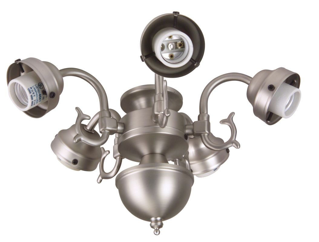Craftmade F545CFL Five Light Ceiling Fan Fitter Brushed Nickel Ceiling
