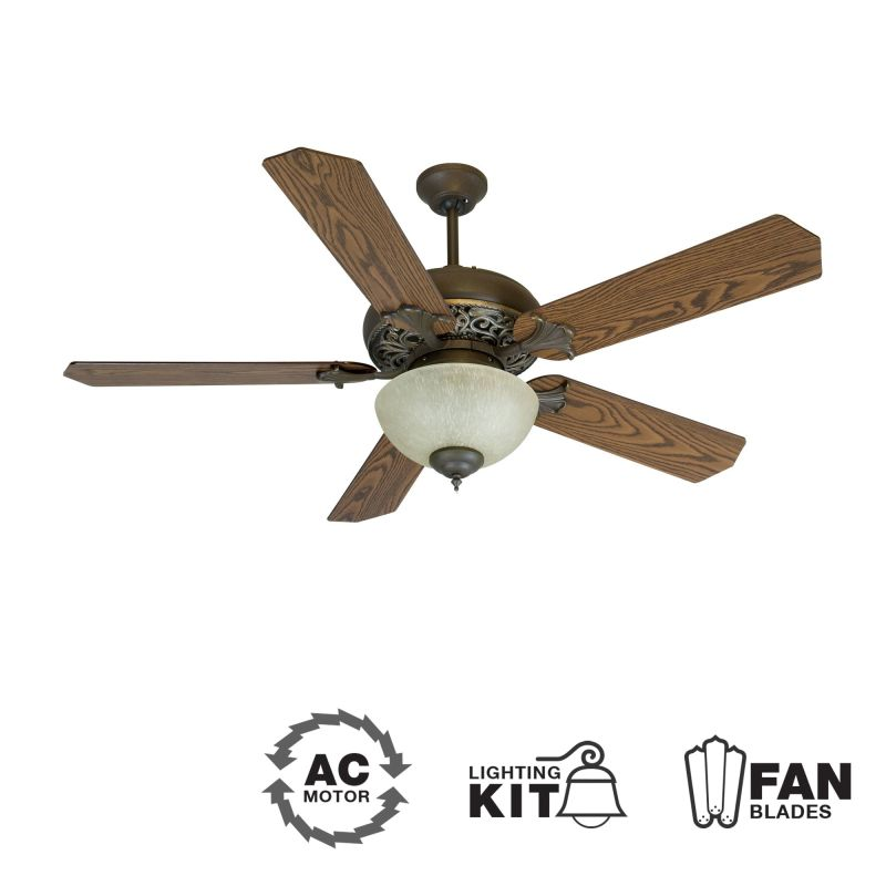 "Craftmade K10238 Mia 52"" 5 Blade Indoor Ceiling Fan - Blades and Light"