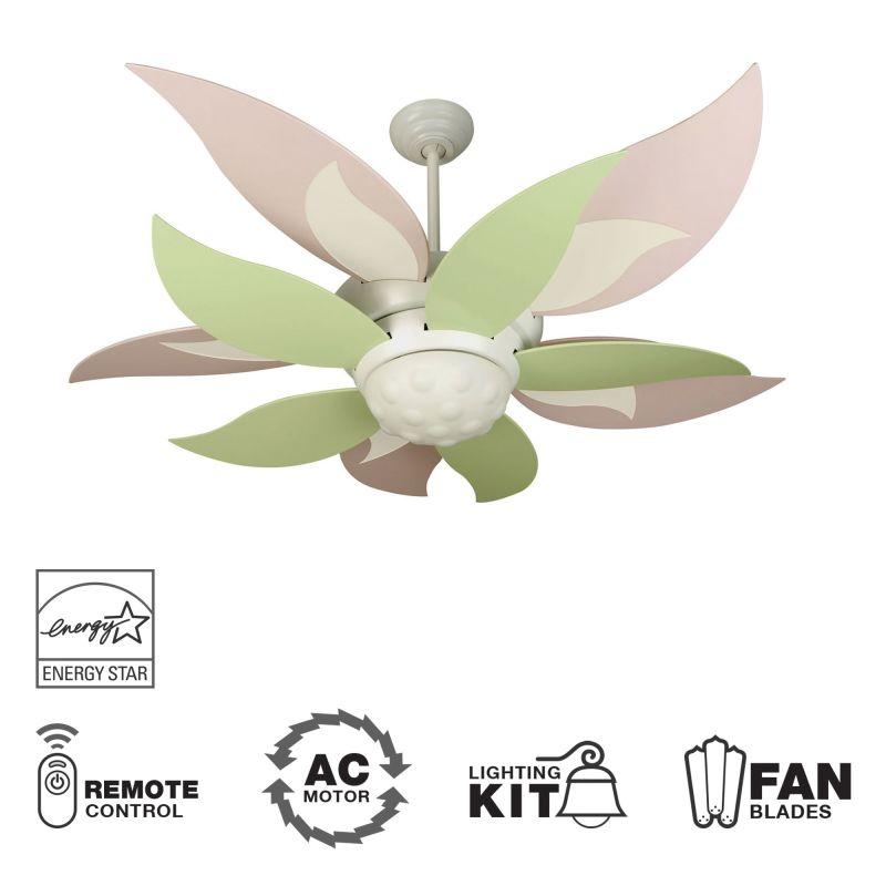 """Craftmade K10367 Bloom 52"""" 10 Blade Energy Star Indoor Ceiling Fan -"""