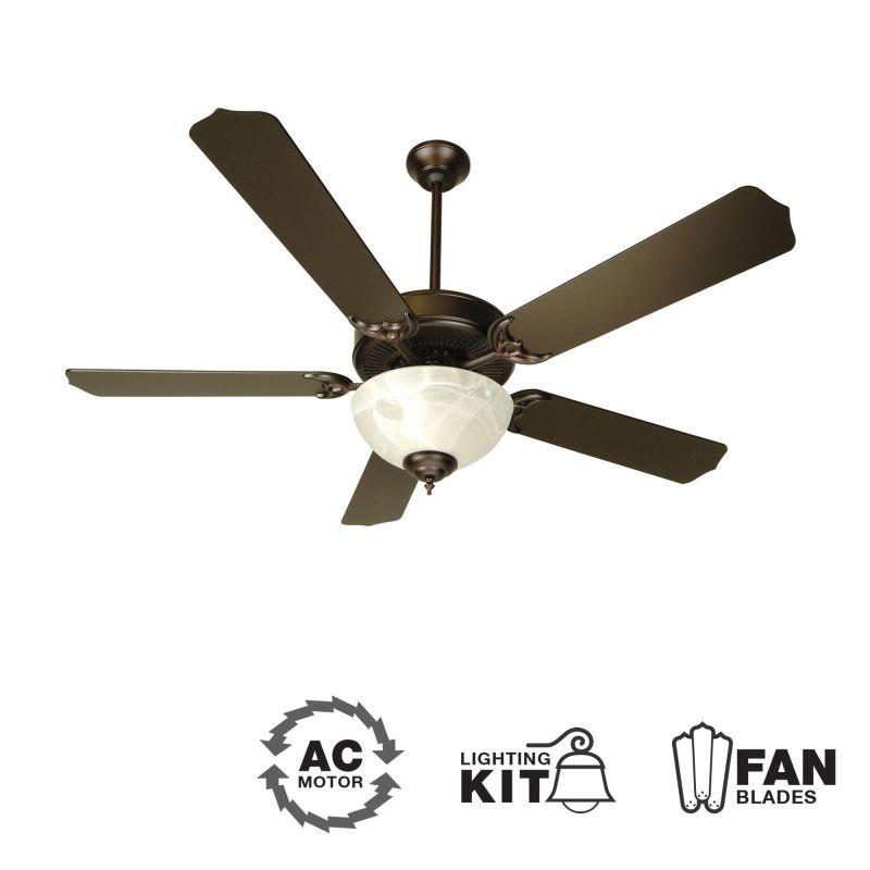 "Craftmade K10434 CD Unipack 207 52"" 5 Blade Energy Star Indoor Ceiling"