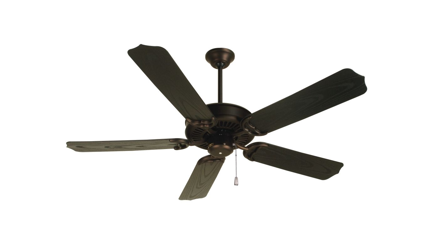 """Craftmade K10442 Porch Fan 44"""" 5 Blade Outdoor Ceiling Fan with Blades"""