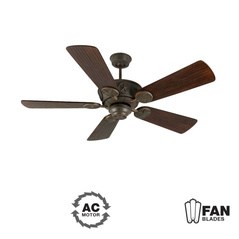 "Craftmade K10513 Chaparral 54"" 5 Blade Indoor Ceiling Fan - Blades"