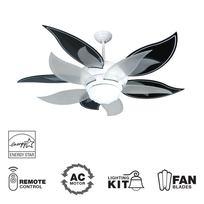 """Craftmade K10612 Bloom 52"""" 10 Blade Energy Star Indoor Ceiling Fan -"""