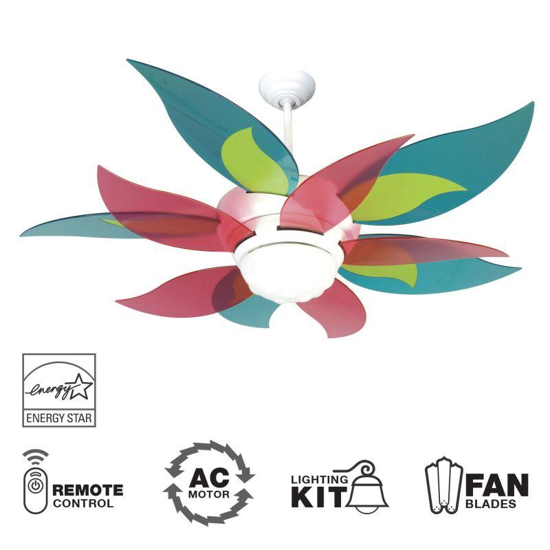 """Craftmade K10613 Bloom 52"""" 10 Blade Energy Star Indoor Ceiling Fan -"""