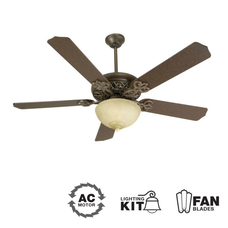"Craftmade K10617 Cecilia Unipack 52"" 5 Blade Indoor Ceiling Fan -"