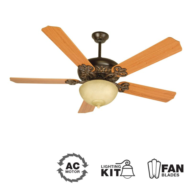 "Craftmade K10619 Cecilia Unipack 52"" 5 Blade Indoor Ceiling Fan -"