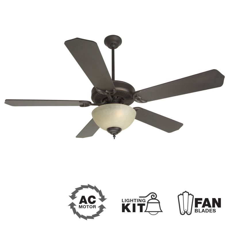 "Craftmade K10629 CD Unipack 202 52"" 5 Blade Indoor Ceiling Fan -"
