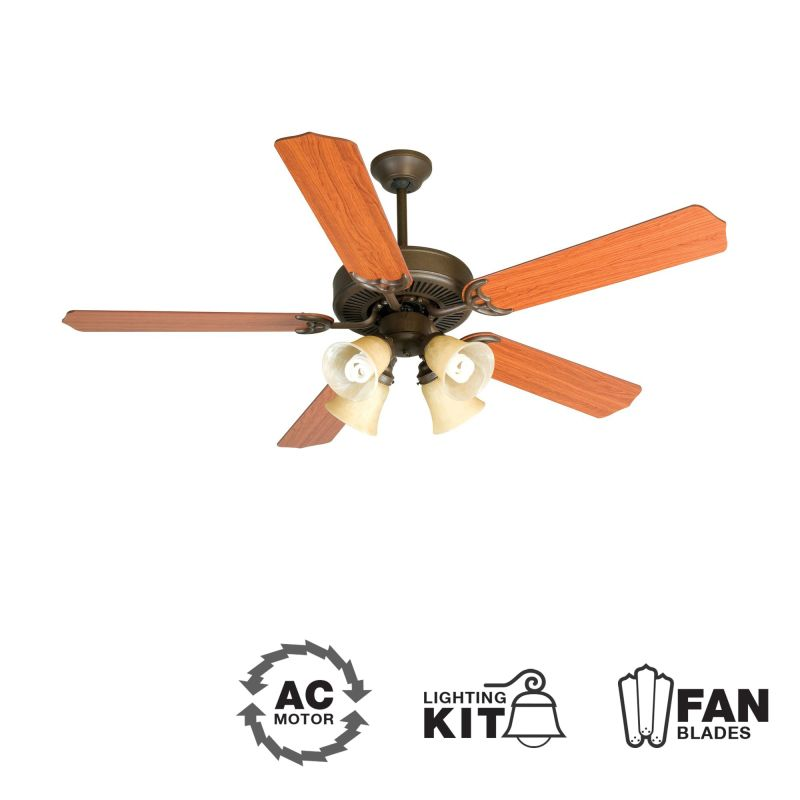 "Craftmade K10634 CD Unipack 204 52"" 5 Blade Indoor Ceiling Fan -"