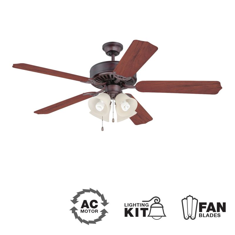 "Craftmade K10635 CD Unipack 204 52"" 5 Blade Indoor Ceiling Fan -"