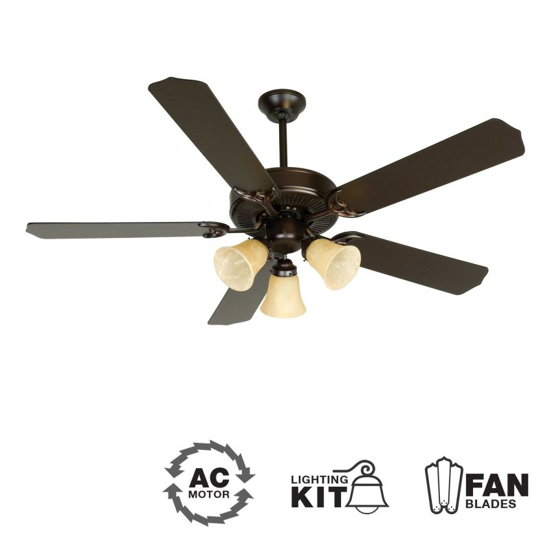 "Craftmade K10641 CD Unipack 206 52"" 5 Blade Indoor Ceiling Fan -"