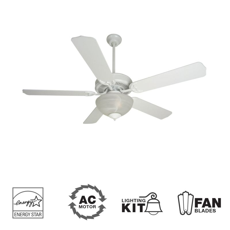 "Craftmade K10646 CD Unipack 207 52"" 5 Blade Energy Star Indoor Ceiling"