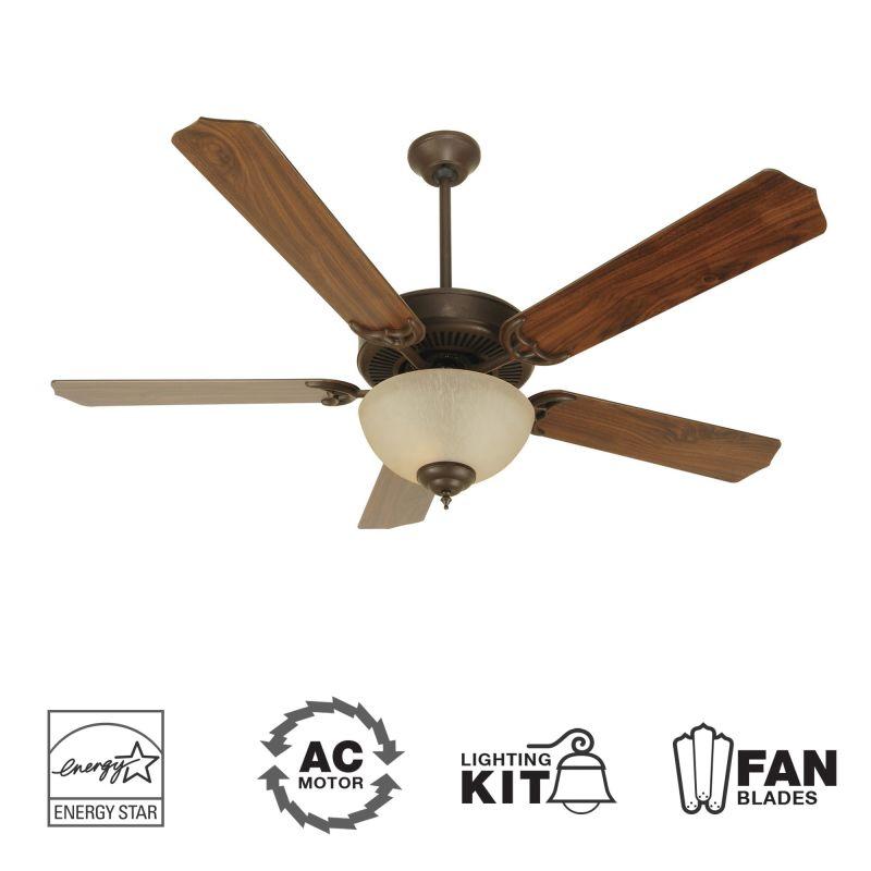"Craftmade K10647 CD Unipack 208 52"" 5 Blade Energy Star Indoor Ceiling"