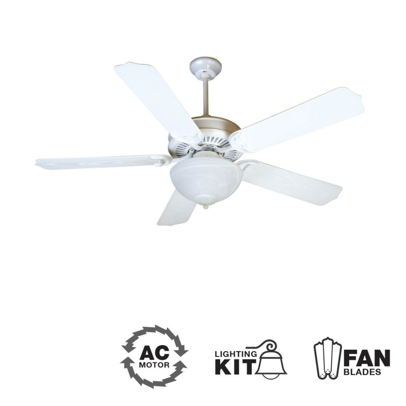 "Craftmade K10738 Porch Fan 52"" 5 Blade Indoor Ceiling Fan - Blades and"