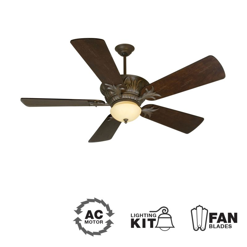 "Craftmade K10744 Pavilion 54"" 5 Blade Indoor Ceiling Fan - Blades and"