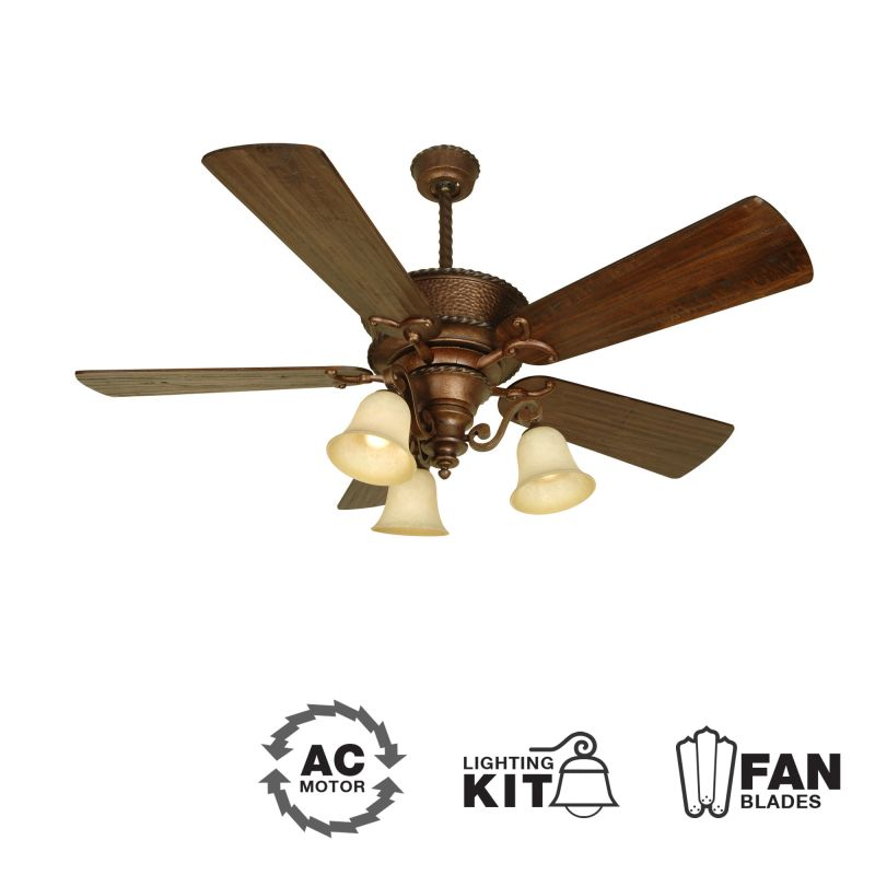"Craftmade K10751 Riata 54"" 5 Blade Indoor Ceiling Fan - Blades and"