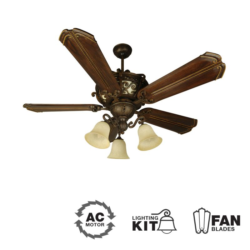 Craftmade K10767 Toscana 56&quote 5 Blade Indoor Ceiling Fan - Blades and