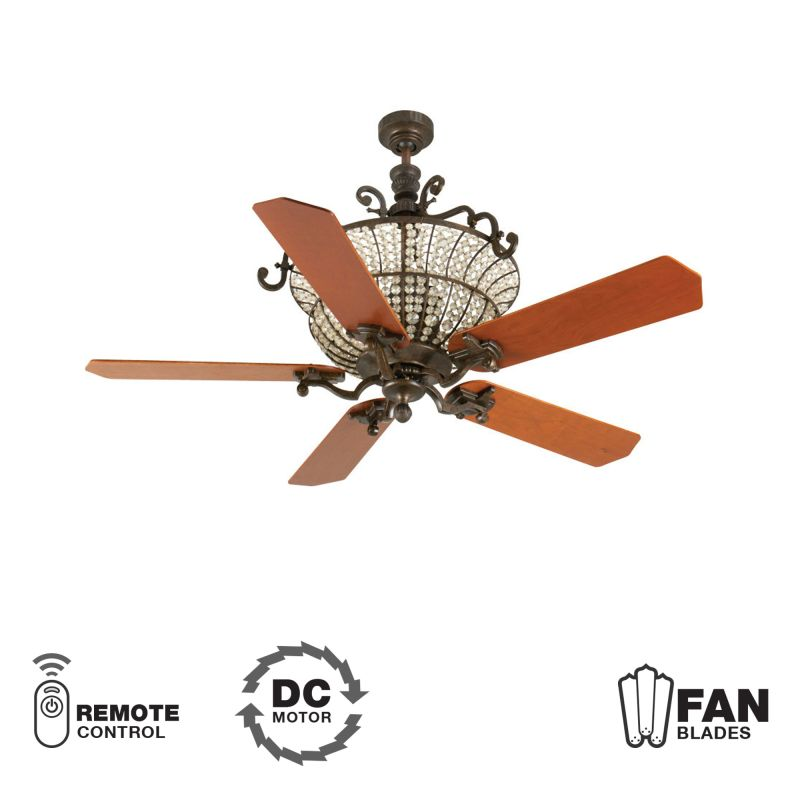 "Craftmade K10877 Cortana 52"" 5 Blade DC Indoor Ceiling Fan - Blades"