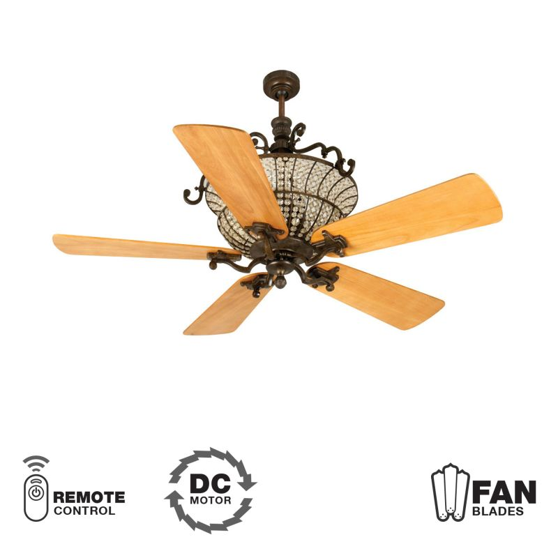 "Craftmade K10879 Cortana 54"" 5 Blade DC Indoor Ceiling Fan - Blades"