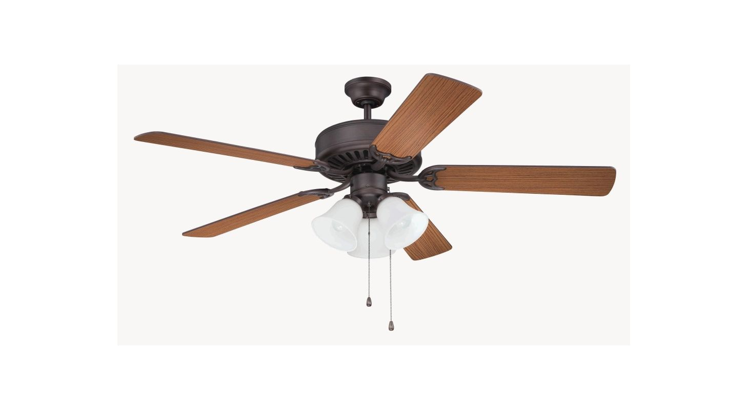 "Craftmade K11111 Pro Builder 205 52"" 5 Blade Indoor Ceiling Fan with"