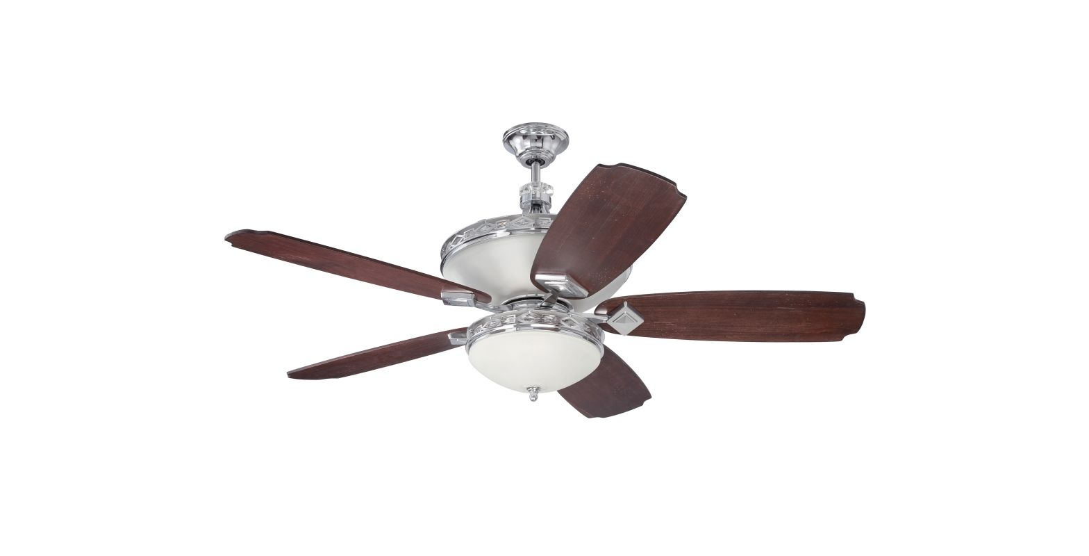 "Craftmade K11249 Saratoga 56"" 5 Blade Indoor Ceiling Fan with Light"