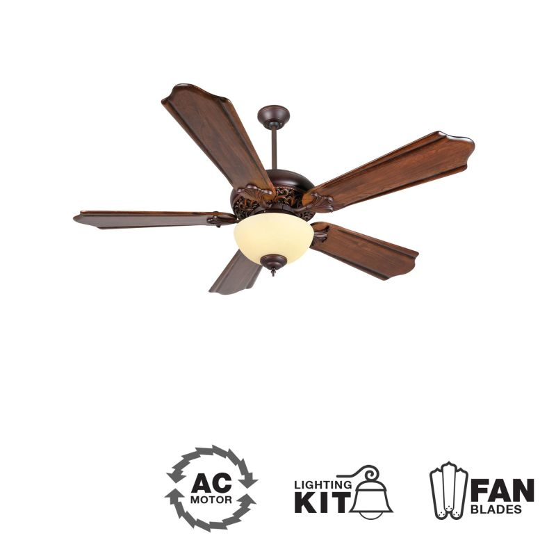 "Craftmade MI52 Mia 52"" 5 Blade Indoor Ceiling Fan - Light Kit Included"