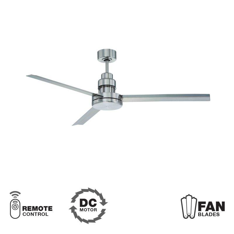 "Craftmade MND543 Mondo 54"" 3 Blade DC Motor Indoor Ceiling Fan -"