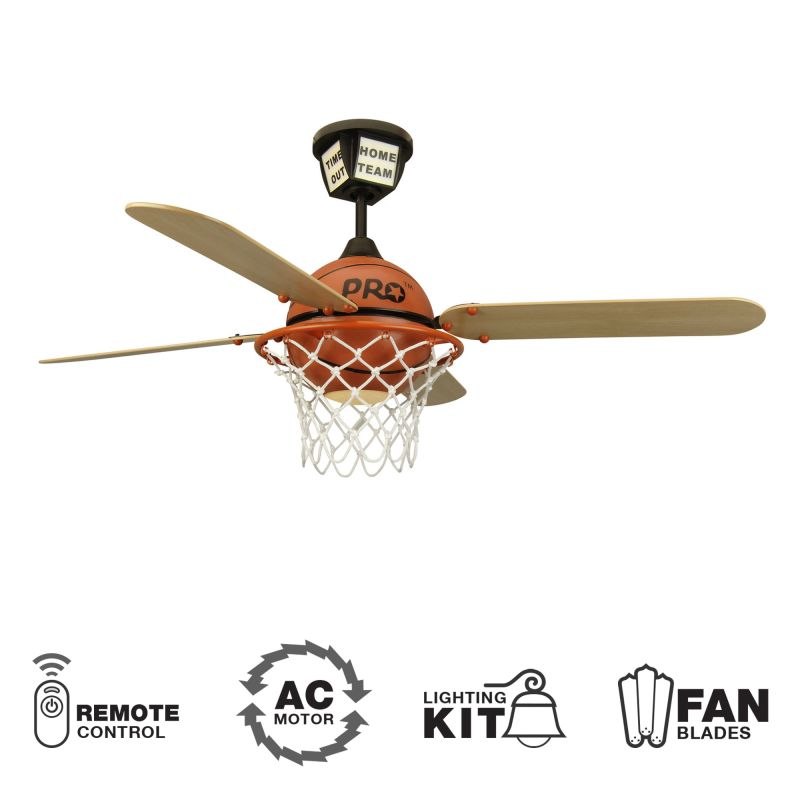 Craftmade ProStar Basketball Youth Fans 52&quote 4 Blade Indoor Ceiling Fan