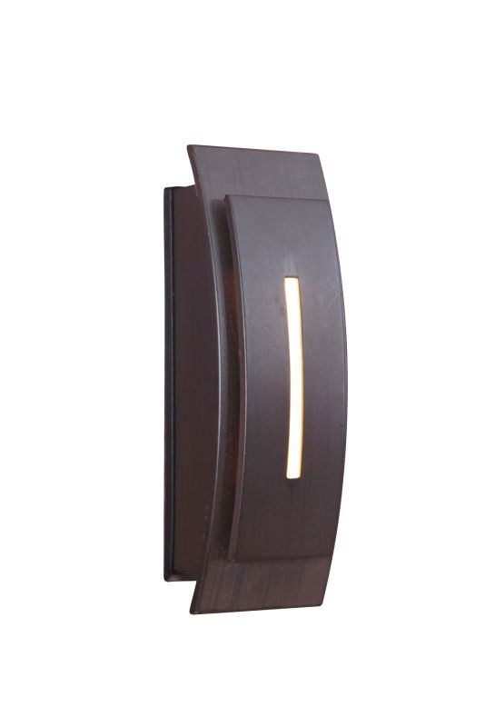 "Craftmade TB1020 5"" x 1.06"" Rectangle LED Arched Touch Push Button"