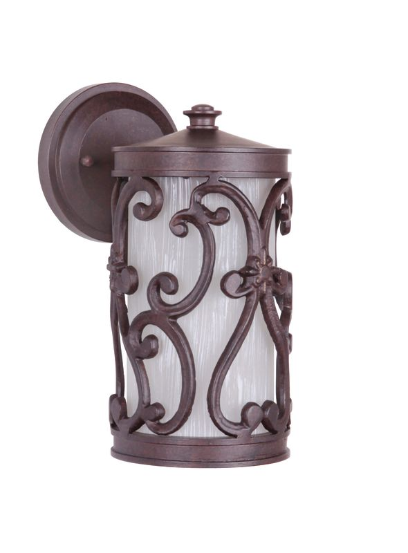 "Craftmade Z5304-98 Glendale 1 Light 5"" Wide Outdoor Wall Sconce Aged"
