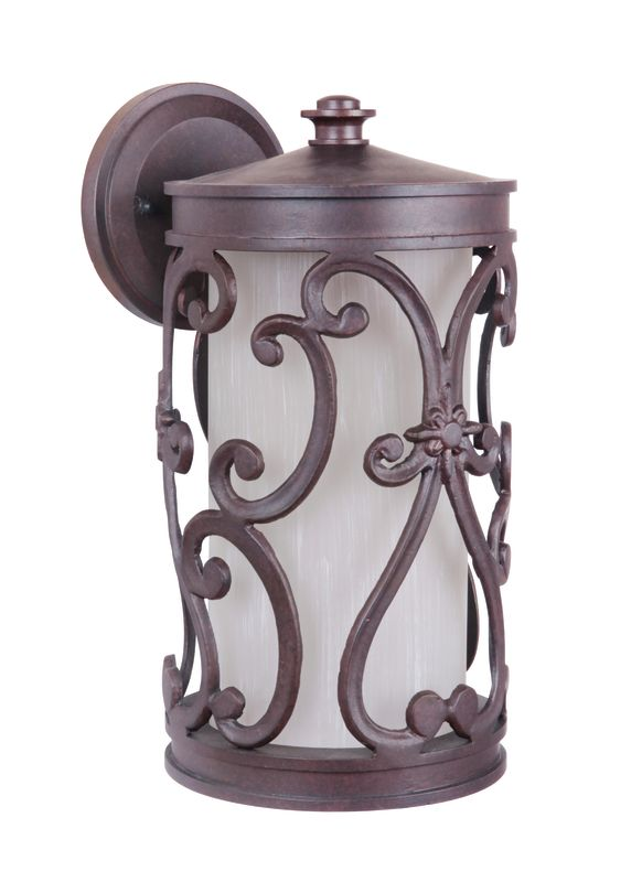 "Craftmade Z5314-98 Glendale 1 Light 7"" Wide Outdoor Wall Sconce Aged"