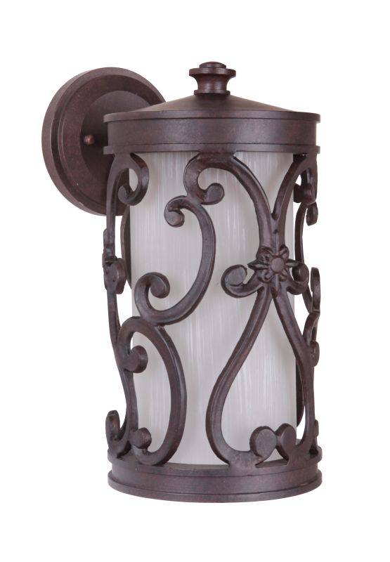 """Craftmade Z5324-98 Glendale 1 Light 8"""" Wide Outdoor Wall Sconce Aged"""