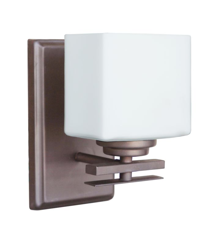 "Craftmade 19705-1 Amherst 9"" Tall 1 Light Bathroom Sconce Oiled Bronze"