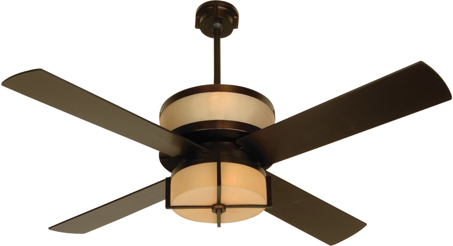"Craftmade Midoro Modern 56"" 4 Blade Ceiling Fan - Blades and Light Kit"