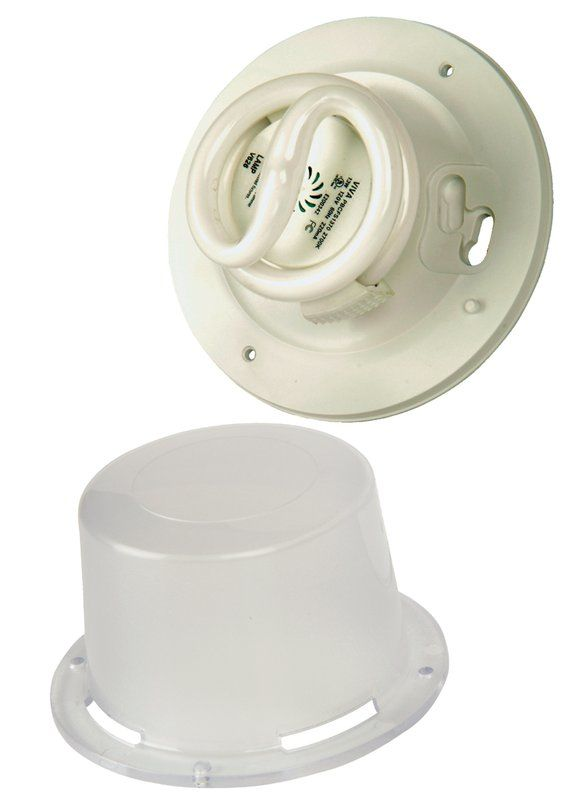 Craftmade K212-CF 1 Light Flush Mount Ceiling Fixture White Indoor