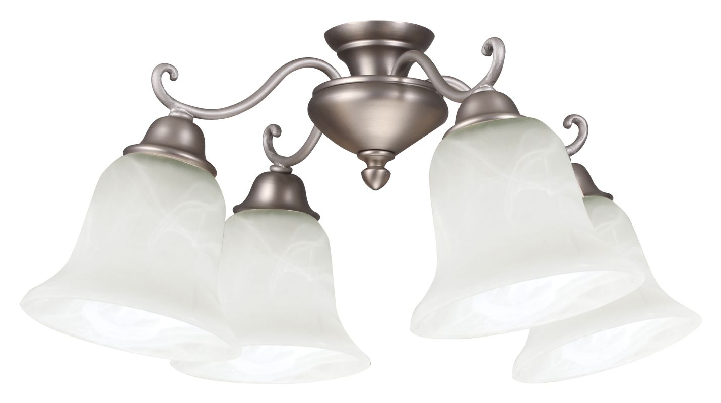 Craftmade LK406CFL 4 Light Kit with Alabaster Glass Brushed Nickel