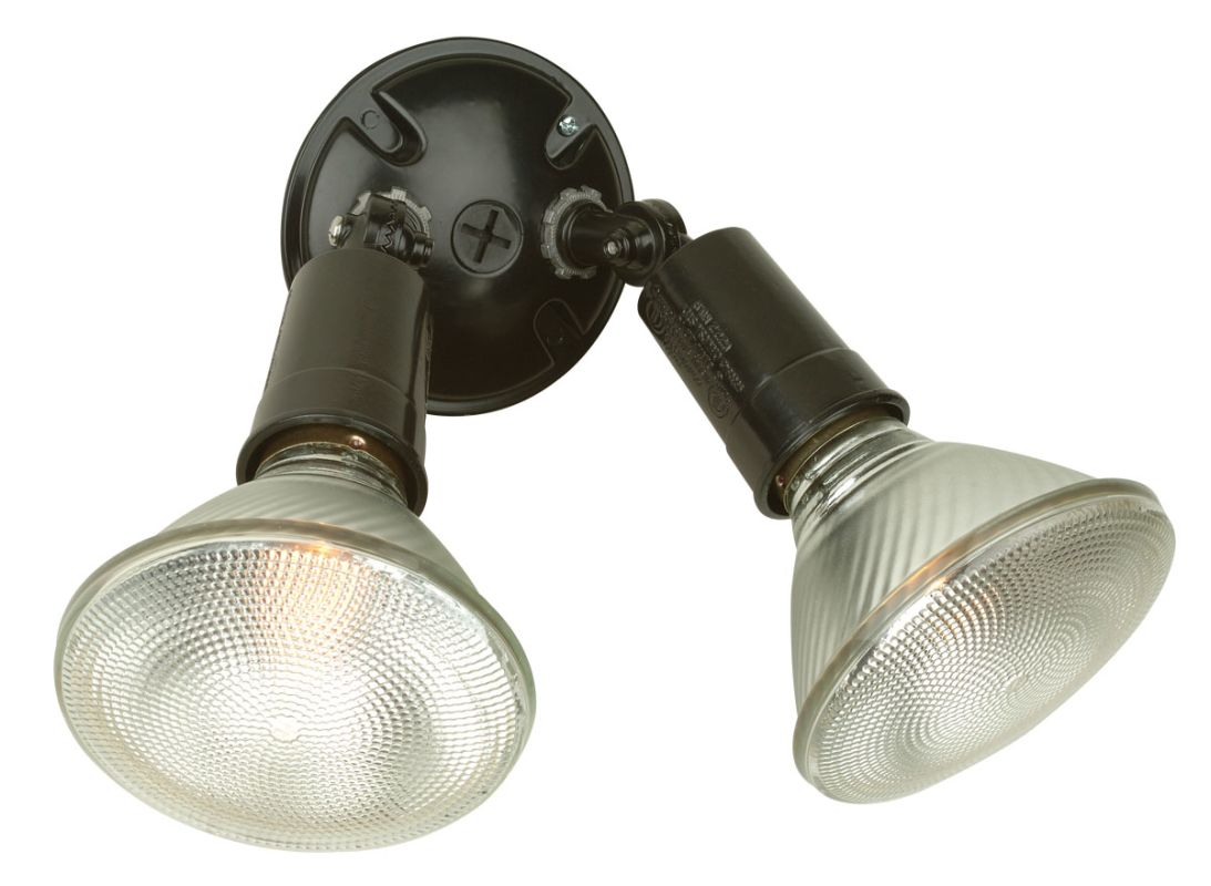Craftmade PH-2 Dual Head 2 Light Flood Light Black Outdoor Lighting