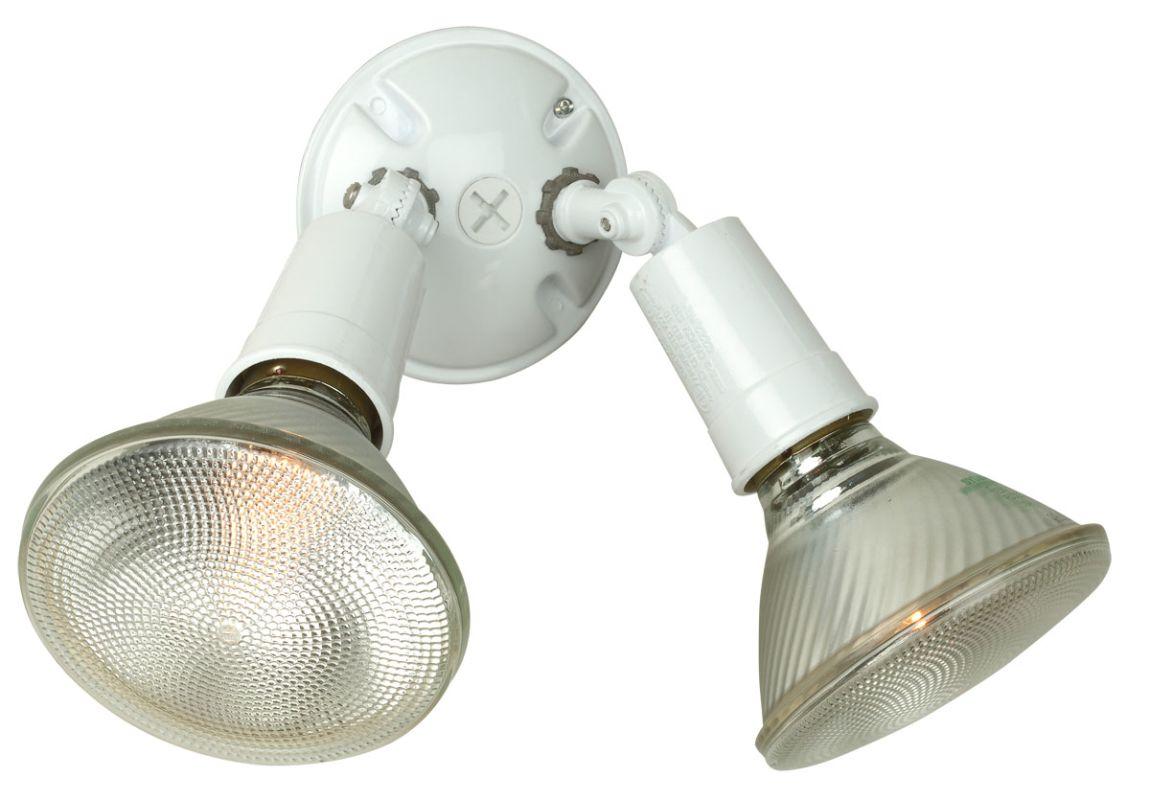 Craftmade PH-2 Dual Head 2 Light Flood Light White Outdoor Lighting