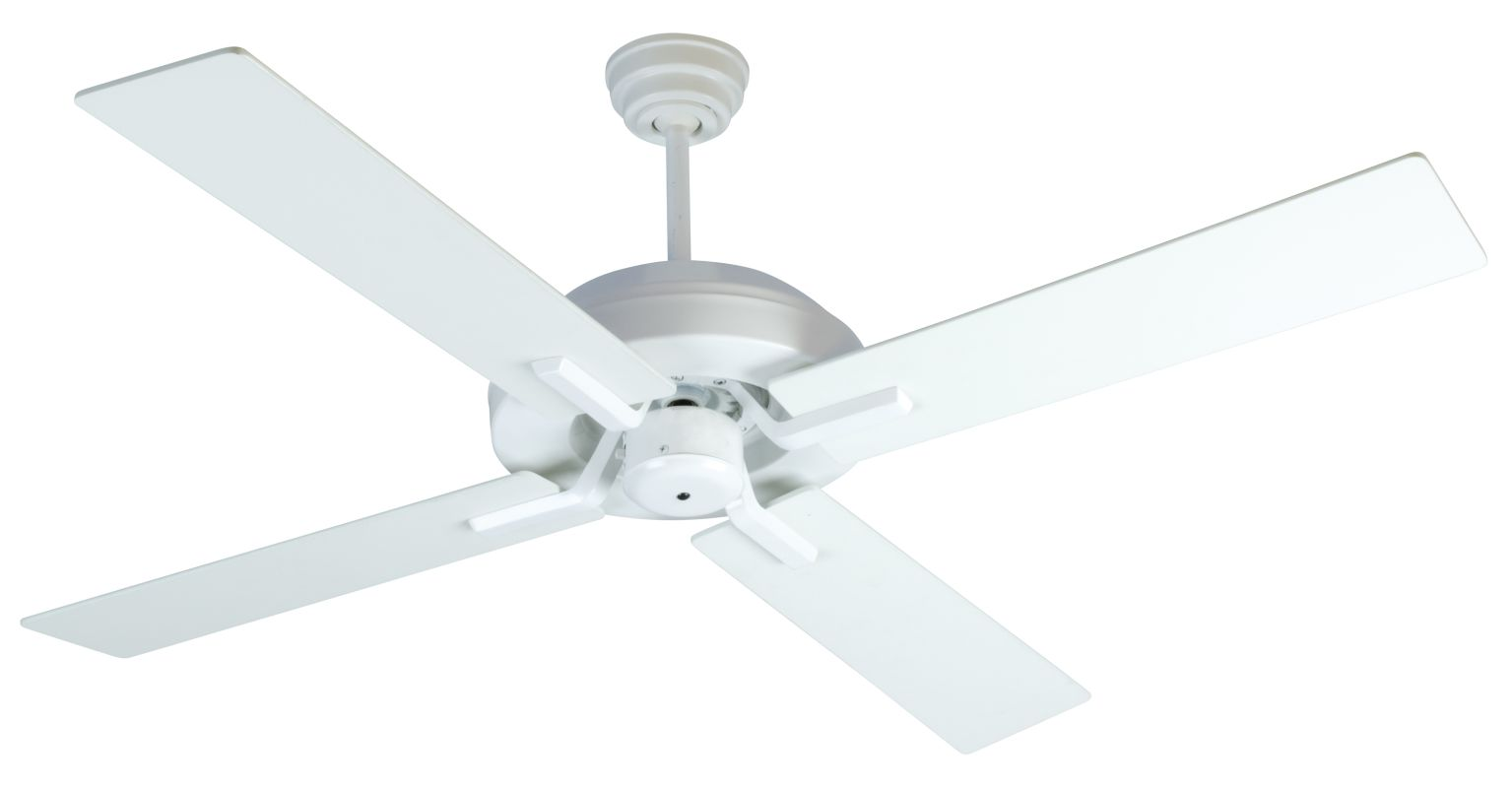 "Craftmade South Beach 52"" 4 Blade Indoor Ceiling Fan - Blades and"