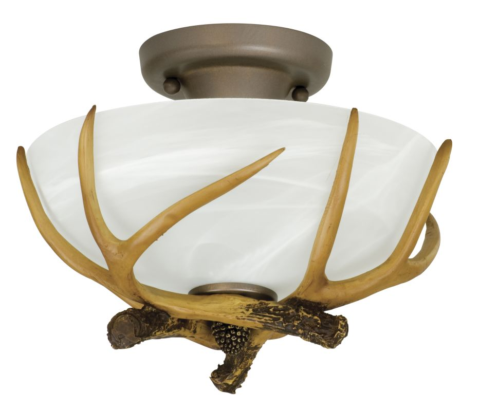 Craftmade X1611 Frontier 2 Light Semi-Flush Ceiling Fixture European